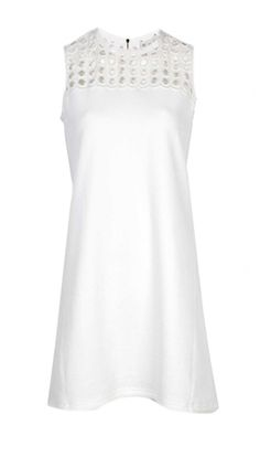 Oxygen | Sea NY Giant Eyelet Fleece Sleeveless Dress White #SeaNY #white #dress #fashion #style #lookoftheday #boutique