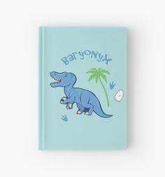 Cute Baryonyx Hardcover Journal #baryonyx #dinosaurs #jurassic #blue #cute