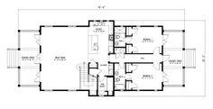 Interested Bunk Room Concept:Beach Style House Plan - 3 Beds 3 Baths 2484 Sq/Ft Plan #443-3 Floor Plan - Main Floor Plan - Houseplans.com
