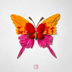 Insects made of flowers and plants by Raku Inoue   Inspiration Grid   Design Inspiration