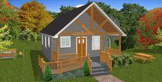 The Oasis: 600 Sq. Ft. Handicap-Accessible Home Plans