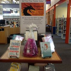 Science display at Damascus Library!