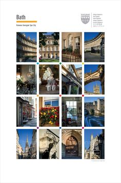 The City of Bath. Posters of cities and towns @ theclassicpostercompany.com