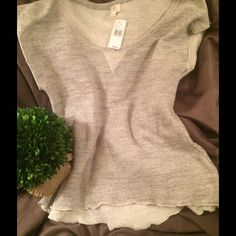 """LAYER UP! ADRIANO GOLDSCHMIED COTTON TANK M  WARM weather  Layering piece! FAB Adriano GOLDSCHMIED thin & lightweight sweat shirt like material- cool, casual chic! Pale grey shade rough cut hem, cap shape shoulder. Slightly longer in back. Laying flat chest is 16 & 1/2""""( has ability to stretch!) 27"""" top shoulder to bottom front hem. ❤️❤️❤️this piece! New with tags. Bundle it for a great warm weather price! Medium, but really, could fit a small, medium or large depending on what look you…"""