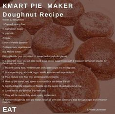 Pie Maker Doughnuts 🍩 – Foodie Mumma Ren - Love my food - Pie Recipes Mini Pie Recipes, Donut Recipes, Sweet Recipes, Dessert Recipes, Cooking Recipes, Scone Recipes, Pastry Recipes, Breville Pie Maker, Donut Batter