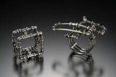 YURI TOZUKA PIPE RINGS  Sterling silver. Hand-fabricated.