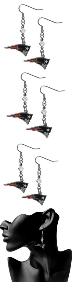 New England Patriots Crystal Dangle Earrings! Click The Image To Buy It Now or Tag Someone You Want To Buy This For. #NewEnglandPatriots