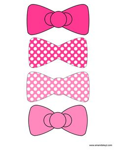 Bows from Kitty Pink Hello Kitty Inspired Printable Photo Booth Prop Set