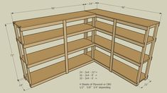 Large preview of 3D Model of Storage Shelf 2X4