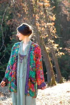 Boho Jacket Artful Layering Piece Spring Colors by AstralBoutique, $42.00