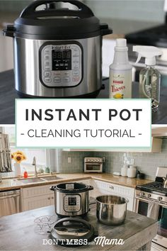 Got an Instant Pot? Checkout this helpful guide on Instant Pot Cleaning, with tutorials for first-time users and tips for cleaning after each use. One Pot Meals, No Cook Meals, Thieves Household Cleaner, Best Instant Pot Recipe, Dish Racks, Cleaning Hacks, Real Food Recipes, Make It Simple, Tutorials