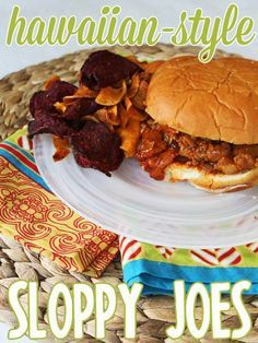 Hawaiian Sloppy Joes! Ground turkey, bacon, ginger, garlic, brown sugar, and pineapple. Super quick and easy!