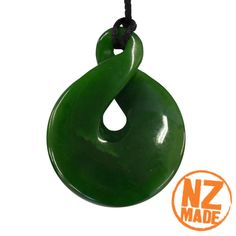This hand carved twist is made from New Zealand greenstone (pounamu). The twist signifies no beginning or ending. It represents the bonding of friendships and also two lives becoming one for all eternity.