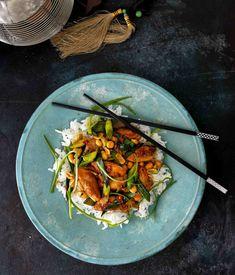 Kuřecí kung pao s karamelem Pho, Sushi, Food And Drink, Asian, Fresh, Meat, Chicken, Ethnic Recipes, Lasagna