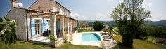 View of the house and pool at Casa Sienna, Luxury Villa to Rent in Istria, Croatia.