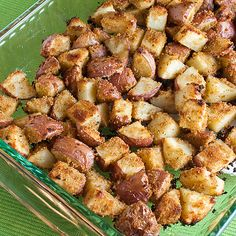 shake and bake potatoes- my mom used to make these sometimes and they were delish!
