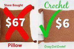 Crochet Easy Spring Summer Top - Crazy Cool Crochet Crochet Tees, Crochet Baby Poncho, One Skein Crochet, Crochet Cardigan Pattern, Crochet Pillow, Chunky Crochet, Crochet Hook Sizes, Easy Crochet Patterns, Crochet Summer Tops