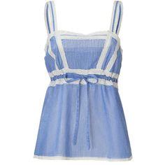 PAUL & JOE Light Blue Cami Top With Lace Trim