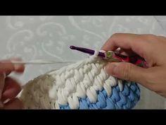 Crochet basket and wicker models for craftsmen Crochet Bowl, Knit Or Crochet, Easy Crochet, Crochet Basket Tutorial, Crochet Instructions, Yarn Projects, Crochet Projects, Crochet Backpack, Knit Basket