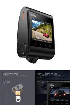 Dashboard Camera Recorder Car Cam Dash 1080P FHD WiFi Night Mode LCD USB Charger #ROAV