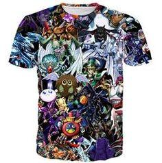 Cute Anime t shirt YuGiOh Monster Tee Shirt Men Women 3D print Hipster t shirt Funny Duel Monsters Elf Short sleeve