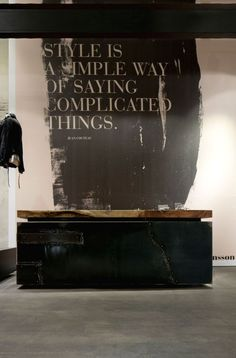 Fantastic wall tupography wall | typography | Wolfensson concept store (Vienna):