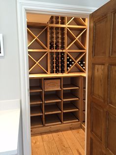 Bespoke Solid Pine Wine Racking Features Individual Bottle Hole Storage,  Case Racks, Cellar Cubes