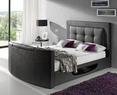 Choose from the largest range of TV Beds in the world from Free Delivery, Mattresses and Installation available with Finance Options! Find Single, Double, King Size and Super King TV Beds Online. We have the UK's largest range of TV Beds for sale. Beds Uk, Tv Beds, Tv Bed Frame, Sofas, Superking Bed, Modern Bedroom Furniture, Modern Bedrooms, Cheap Furniture, Beds Online