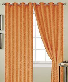 Neon Orange Aurora Grommet Curtain Panel by Ramallah Trading Company, Inc. #zulily #zulilyfinds