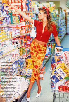 lovelostfashionfound: Bridget Hall - British Vogue June 1995