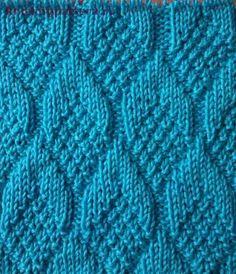 Узор для вязания спицами Шишки