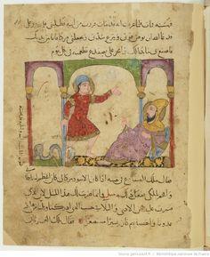 Kalîla et Dimna , avec des figures coloriées
