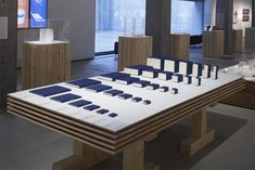 tani_14_Keizo_Kioku Exhibition Space, Retail Design, Conference Room, Gardenias, Display, Table, Furniture, Home Decor, Floor Space