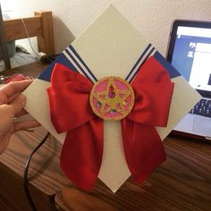 Sailor moon graduation cap.