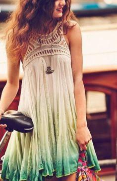 Free People Light Weight Neck Lace Sleeveless Summer Dress