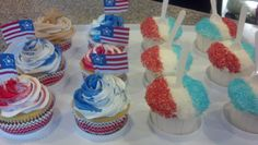 cupcakes I made for 4th of July