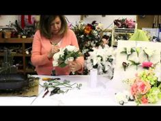 How to Make a Wedding Bouquet with Silk Flowers | Silk Flower Bouquet | ...