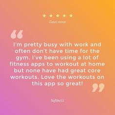 """Thanks for your review BigBike53! We hope to undo the restraint of """"busyness"""" and motivate you to fit workouts back into your schedule. Find our 15-minute core workout app by clicking on our profile link @core15.co #core15app #fitness #workout #fit #fitnessmotivation #fitlife #instafit #fitfam #getfit #exercise #health #core #abs #goals #training #motivation #exercise #absworkout #inspiration #skippr posted w/@SkipprCaptain On Instagram: http://ift.tt/22Yss5R"""