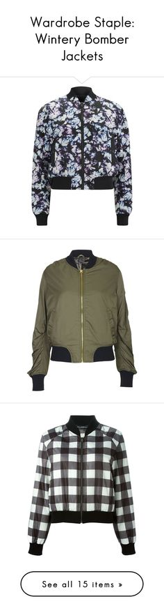 """Wardrobe Staple: Wintery Bomber Jackets"" by polyvore-editorial ❤ liked on Polyvore featuring bomberjackets, outerwear, jackets, tops, coats, casacos, multi, zip jacket, nylon bomber jacket and alexander wang jacket"