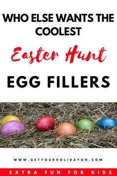"""Do you want the coolest Easter Egg Hunt Egg fillers? Dreaming of the kids being in """"awe"""" when they see their eggs. Here you will find 158 Easter Egg ideas that will sure to please kids, tweens, and teens! Cool Easter Eggs, Easter Hunt, Plastic Easter Eggs, Easter Stuff, Easter Egg Stuffers, Favorite Holiday, Holiday Fun, Holiday Ideas, Easter Crafts"""