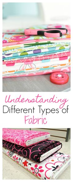 Understanding Different Types of Fabric and How to Shop for Them #sewing #sew