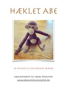Danish only: Hæklet Abe - En hyldest til Kay Bojesen. Crochet For Kids, Diy Crochet, Crochet Baby, Crochet Patterns Amigurumi, Crochet Dolls, Crochet Animals, Crochet Designs, Yarn Crafts, Crochet Projects