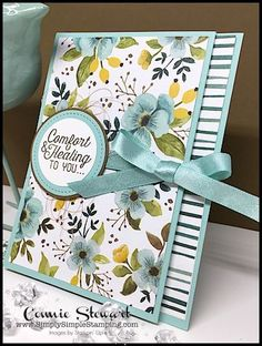 Watch the REWIND video of last week's Facebook LIVE! I will share how to create this beautiful trifold get well card and tri-fold Christmas card. www.SimplySimpleStamping.com and look for the November 22, 2017 post!