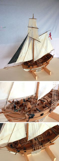 H.M.S. ALDEBARAN 1790 - English Cutter - Scale 1:100 - Made by Paolo Conti - Totally hand made in wood and recycle materials - 2012 - 1100 Euro