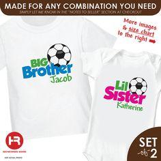 Soccer Big Brother Shirt & Soccer Little by HeatherRogersDesigns, $32.50