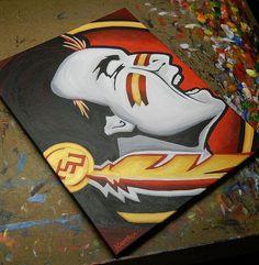 Florida State Seminole painting sports art college by crockerart