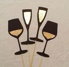 Photo Booth Props New Years Eve 4 pc Photobooth Party Props Glitter Drinks