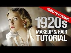 Vintage Hairstyles Tutorial Finger Waves - Have you been invited to a Great Gatsby themed party? You absolutely need our hairstyle tutorial. You'll get perfect finger waves to impress everyone! Flapper Hair, Gatsby Hair, Flapper Costume, 1920s Flapper, Vintage Hairstyles, Wedding Hairstyles, 1920s Makeup Tutorial, Updo Tutorial, Mario E Luigi