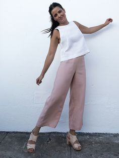 summer clothing fashion funkis pink pink pants,  scandinavian style