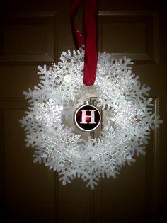 my snowflake wreath